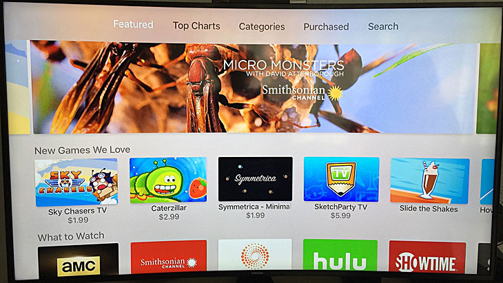 SketchParty TV featured on the Apple TV App Store